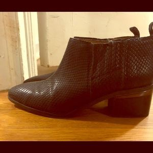 Black Scaled Franco Sarto Booties